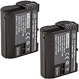 BM Premium 2 Pack of EN-EL15C High Capacity Batteries for Nikon Z5, Z6, Z6 II, Z7, Z7II D780, D850, D7500, 1 V1, D500, D600, D610, D750, D800, D800E, D810, D810A, D7000, D7100, D7200 Digital Cameras