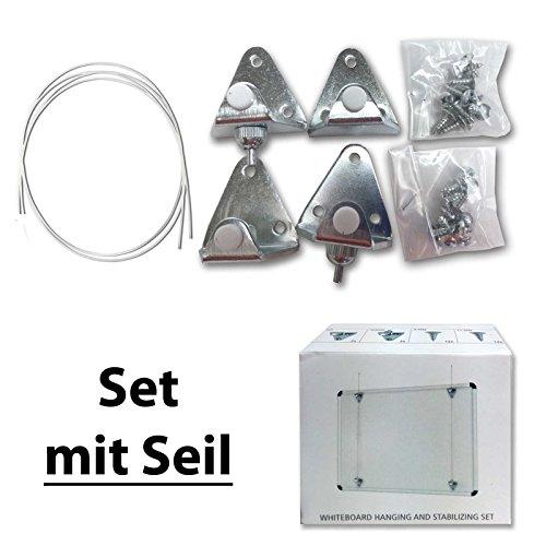Neumann Fotolijst, whiteboard-hangers, set met staalkabels, draagkracht 30 kg