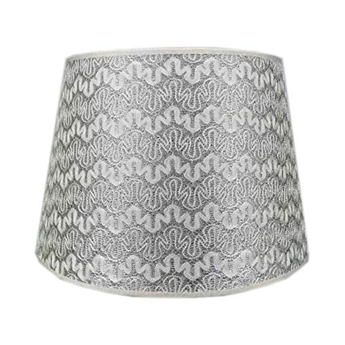 ADSE Pantalla de Tela de PVC, Pantalla de Bricolaje, Pantalla cónica de Tela de algodón, diámetro Inferior 22 cm, Adecuado para lámparas de Mesa, C, 22 cm