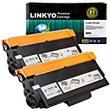 LINKYO Compatible Toner Cartridge Replacement for Brother TN750 TN-750 TN720 (Black, High Yield, 2-Pack)