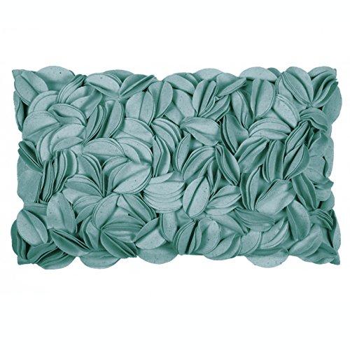 Pad - kussenhoes - kussensloop - sierkussens - Dorothy - applicaties - turquoise/turquoise - 30 x 50 cm