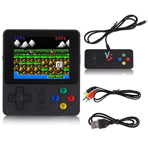 RosewineC Console da gioco, stile retrò, con batteria da 1020 mAh, 500 giochi classici, schermo LCD da 3,0 pollici, supporto per giocare in TV, giochi a due giocatori