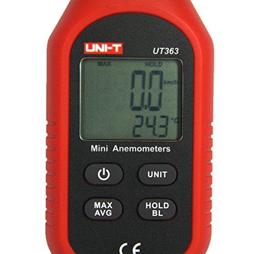 UT363 Mini Anémomètre Numérique Appareil de Mesure de Vent de Haute Précision Impulseur à Main Anémomètre à Capteur de Vitesse de Vent