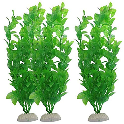Carry stone Künstliche grüne Algen lebendige Wasserpflanzen Kunststoff Tank Pflanzendekorationen für Aquarium nützlich und praktisch