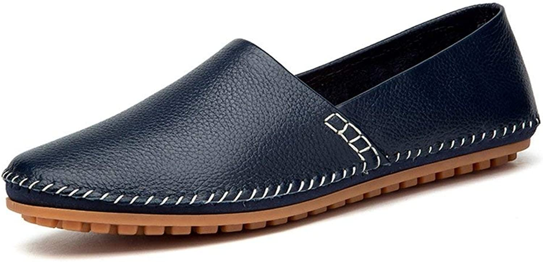 Hhgold Men's Moccasins shoes, Men's Minimalism Loafers PU Leather Noble Comfortable Pure color Fashion Driving Boat Moccasins Casual shoes (color  Black, Size  42 EU) (color   bluee, Size   47 EU)