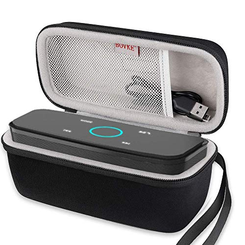 BOVKE Case for Doss SoundBox Touch Wireless Bluetooth V4.0 Portable Speaker Protective Hard EVA Travel Shockproof Carrying Case Cover Storage Pouch Bag, Blue