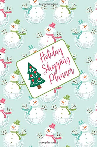 Holiday Shopping Planner: Cute Snowman Cover Notebook