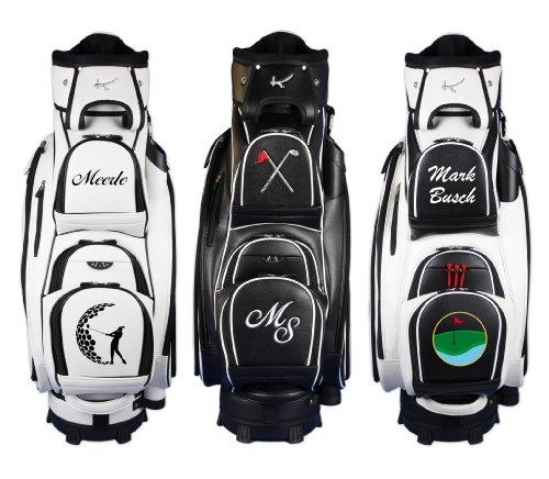 "Personalizada: Bolsa de golf de carro 9.5"" MADEIRA ""diseño di golf"" en negro"