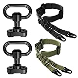 SMALLRT 2 PCS 2 Point Sling Adjustable with 2 Pack QD Sling Swivels Mount, Push Button Quick Release Sling Attachment Base for Mlok Rail