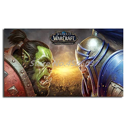 Quadri decorativi World Of Warcrafts Battle For Azeroth Wall Art Canvas Posters Prints Painting Wall Pictures For Office Living Room Home Decor 60x80cm (24x31pollici)