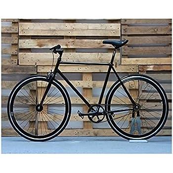 Desconocido Bicicleta fixie negra con detalles: Amazon.es: Deportes y aire libre