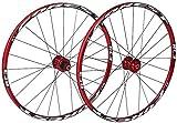 Juego De Ruedas Bicicleta Rueda de bicicleta MTB de pared doble Ciclismo Ruedas V-Brake Disc aro Freno de disco perforado 24 de ruedas de aleación de aluminio de la rueda cubo del disco 8/9/10 velocid