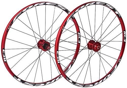 Ruedas De Bicicleta,llantas bicicleta Rueda de bicicleta MTB de pared doble Ciclismo Ruedas V-Brake Disc aro Freno de disco perforado 24 de ruedas de aleación de aluminio de la rueda cubo del disco 8/