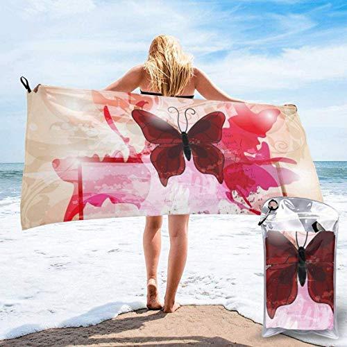 WHALE-FALL Toalla de playa de secado rápido con diseño de unicornio perezoso para ir a la playa, acampar, senderismo, deportes, 27.5 x 55 pulgadas
