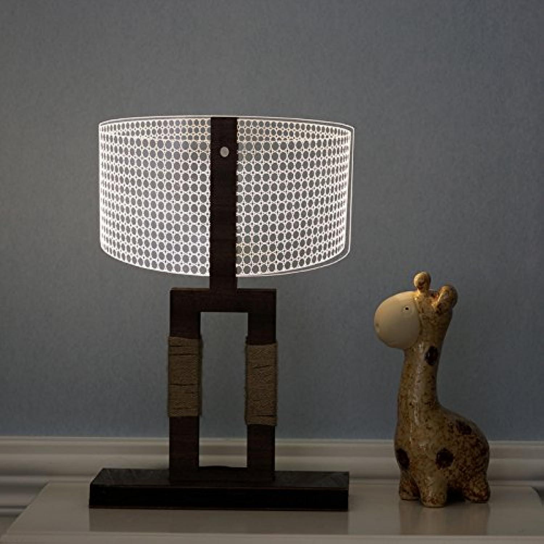Shop 6 Nachtlicht Knopfart 3D Nachtlichttischlampe, Usb Visuelle Stereolampe, Führte Einfaungsstereolampe, 1