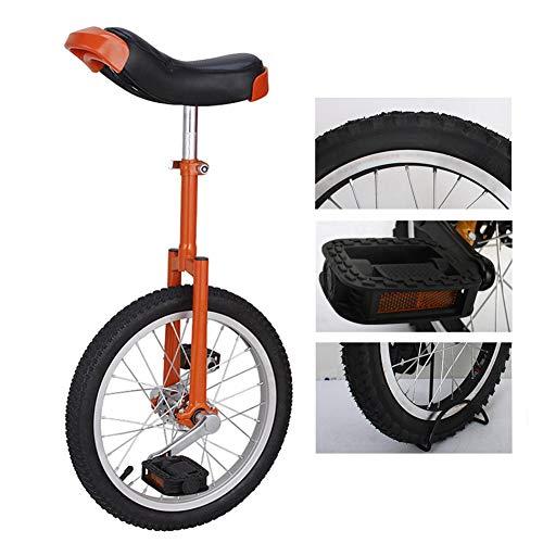HWF Monociclo Professionale Freestyle Allievo Monociclo per Bambini/Piccoli Adulti, 16'/ 18' / 20' Pneumatico Antiscivolo, Forcella in Acciaio al Manganese, Sedile Regolabile, Rosso