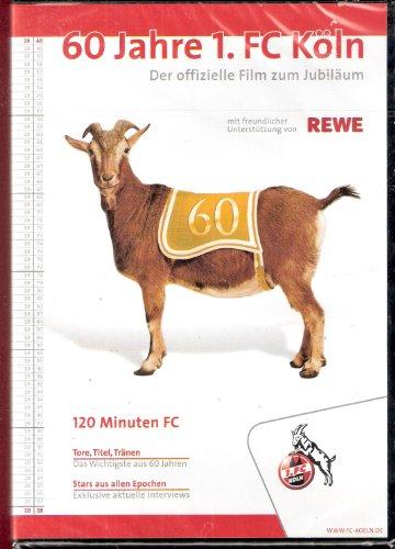 60 (Sechzig) Jahre 1. FC Köln. Der offizielle Film zum Jubiläum. (DVD - 120 Minuten Spielzeit). Tore, Titel, Tränen: Das Wichtigste aus 60 Jahren. Stars aus allen Epochen: Exklusive aktuelle Interviews.