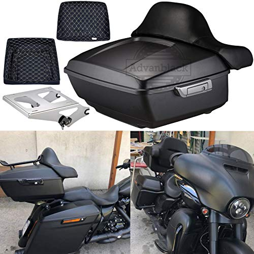 Us Stock Advanblack Denim Black King Tour Pack Tour-Pak Liners Trunk Rack Fit for Harley Touring Street Glide Special Road Glide Road King Electra Glide Ultra Classic 2009-2020