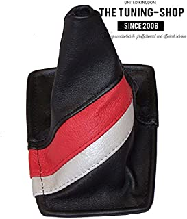 Gear Stick Gaiter Black Genuine Leather TRD Stripes