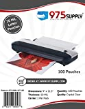 975 Supply 10 Mil Clear Letter Size Thermal Laminating Pouches, 9 X 11.5 inches, 100 Pouches