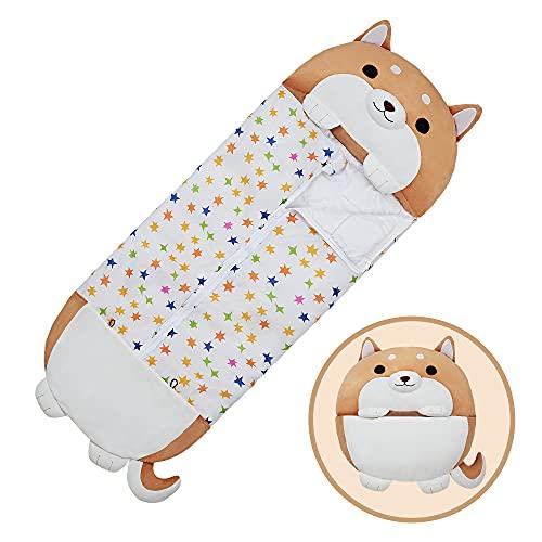 XMWEALTHY Sleeping Bag for Kids Girls Warm Sleeping Bag with Pillow Dog Stuffed Animal Cartoon Boys...