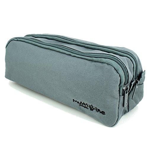 Grafoplás 37542074-Estuche escolar doble Multiline color gris oscuro