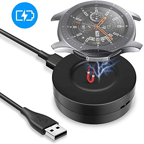 KIMILAR Oplader compatibel met Samsung Galaxy Watch 46mm / 42mm / Gear S3 Laadstation, Draagbare Magnetische Oplaadkabel USB Data Cradle Dock voor Galaxy Watch 42mm / 46mm / Gear S3 Smartwatch