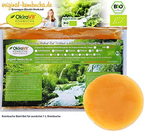 Original-Kombucha-Teepilz Premium Qualität + Bio-Kombucha-Getränk für 1 L, Anleitung + Anwuchsgarantie. Aus dem Heilbad Bad Kohlgrub