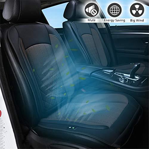 Himacar Autostoelkoeling, koelend zitkussen voor in de auto, voor ontspanning, grote ventilatoren, aangename continue koeling, voor op kantoor of op de stoel