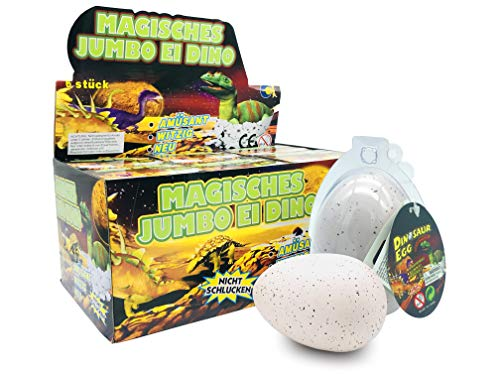 JustRean Toys XXL Dino schluepf ei 11 cm – Magic Growing Egg Jumbo Dinosauri schluepfei
