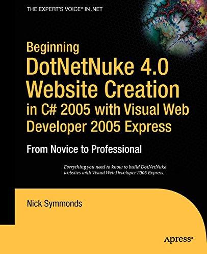 Beginning Dotnetnuke 4.0 Website Creation In C # 2005 With Visual Web Developer 2005 Express