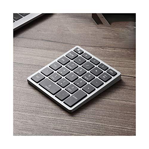무선 블루투스 숫자 키패드 34KEYS | 28KEYS 무선 숫자 키패드가있는 충전식 번호 패드 키보드 (색상 : 그리스 크기 : 28 키)