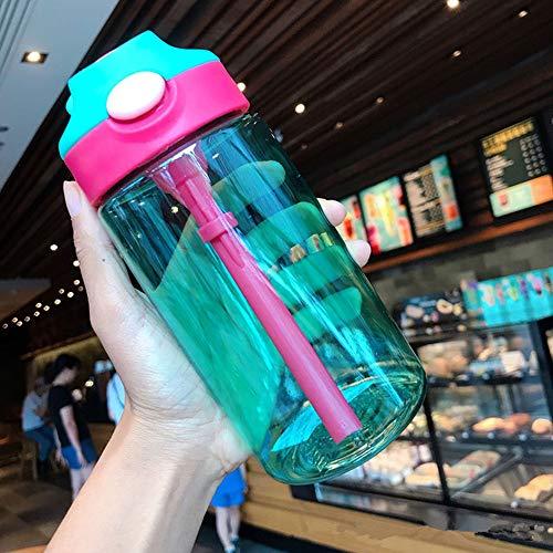 Wgath 480Ml Babyflessen Baby Pasgeboren Beker Kinderen Leren Voedingsstro-Sap Drinkfles Voor Kinderen Waterflessen