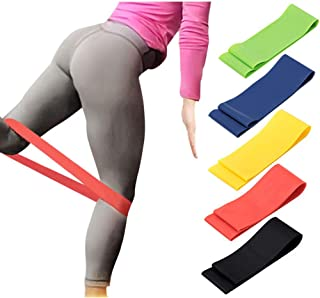 Lixada 5PCS/Set Fitness Resistance Loop Bands Multifunctional Pull High Stretching Arms Shoulders Legs Exercise Gym Workou...