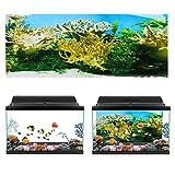 Cartel de Acuario, Plantas de Agua Patrón de Coral Fondo de Acuario Cartel de PVC Autoadhesivo Pegatina de Papel Tapiz para pecera decoración(61 * 30cm)