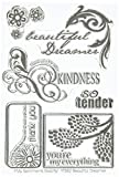 MSE Y582 Beautiful Dreamer My Sentiments Exactly Stamps Sheet, 4' by 6', Clear