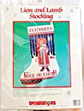 Mary Engelbreit Dimensions Lion & Lamb Cross Stitch Christmas Stocking Kit 8399