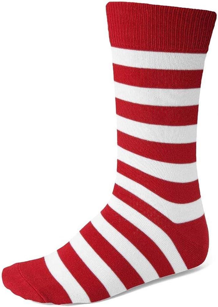 TieMart Men's Striped Socks