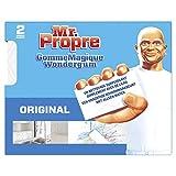 Mr Propre Gomme Magique Originale éponge, Élimine les traces et taches tenaces, Nettoyage toutes surfaces, Lot de 2
