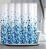 True Holiday Duschvorhang, Polyester, wasserdicht, schimmelresistent, antibakteriell, mit 12 Vorhanghaken, 180 x 180 cm Petal