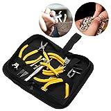 Uhr Repair Tool Kit, Zangen + Pinzette + Lineal + Schere + Schmuckzubehör