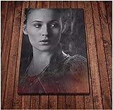 Jinliushi Sansa Stark Poster Leinwand Kunst Poster und