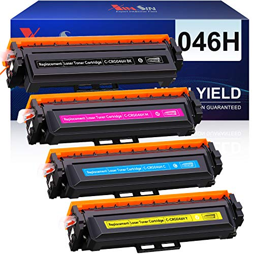 XINSIN Compatible Toner Cartridge Replacement for Canon 046 046H CRG-046 for Color ImageCLASS MF733Cdw MF731Cdw MF735Cdw LBP654Cdw Laser Printer (Black, Cyan, Magenta, Yellow)