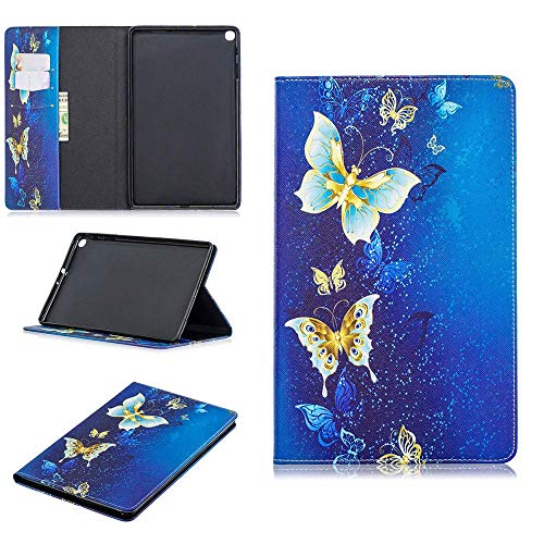 Luckyandery Galaxy Tab A 10.1 SM-T510/T515 2019 Leather Case Card Holder, Shockproof Stand Flip Leather Cover Card Slot Holder with Kickstand for Galaxy Tab A 10.1 SM-T510/T515 2019