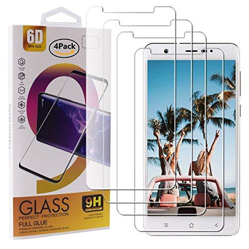 Guran 4 Stück GEH?rtetes Glas Displayschutzfolie für Blackview R6 / R6 Lite Smartphone mit 9H H?RTE Panzerglasfolie Anti-Kratzer HD Klar Schutzfolie Film