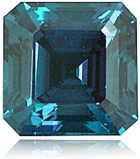 Mysticdrop 0.78-0.96 Cts of 5.0x5.0 mm AAA Square Emerald Cut Lab Created Alexandrite (1 pc) Loose Gemstone
