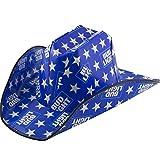 partybyspursgrl Bud Light, Budweiser Cowboy Cardboard Hat (Blue)