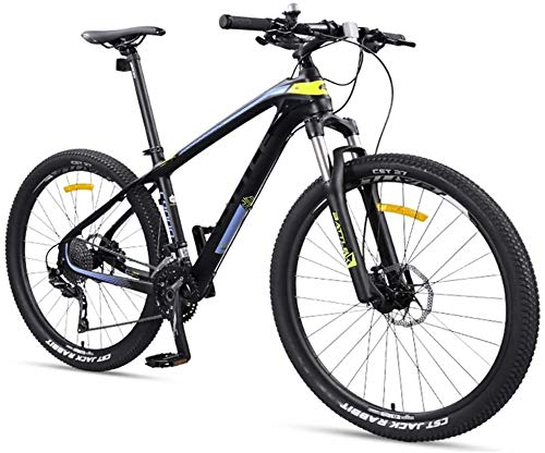 CUISIDIAO 27.5 inches Adult Mountain Bike, Lightweight Carbon Fiber Frame 27 Speed Mountain Road Vehicles, Double disc Hard Tail Ms. M
