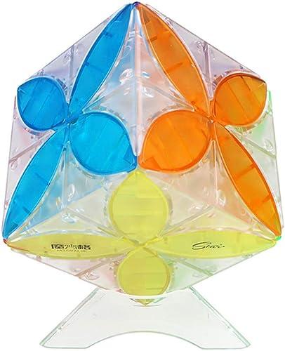 GUIHE Speed Cube Transparenter Kleeblatt Glattes Drehen Schnelle 3D-Puzzles Klassisches Spielzeug Würfel Brain Teaser