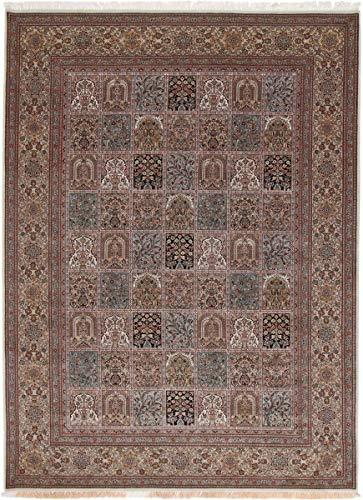 Nain Trading Indo Ghom 348x257 Orientteppich Teppich Braun Handgeknüpft Indien